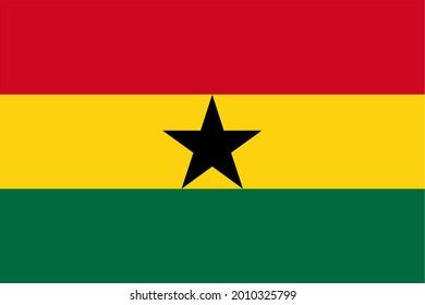 the Ghanaian national flag of Ghana, Africa