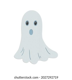 Ghost Booo paper cut Halloween horror