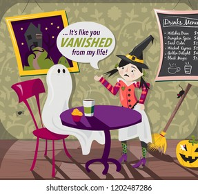Ghosted Halloween Illustration