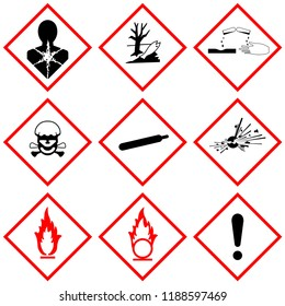 GHS label safety sign, industrial warning symbol