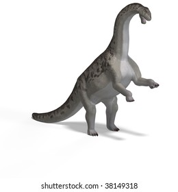 giant dinosaur camasaurus With Clipping Path over white