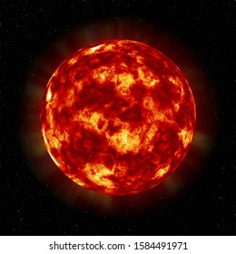 Giant and Hot Red Star Sun