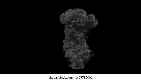 Giant real nuke explosion 3d render
