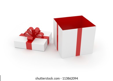 Gift Box - Isolated on White Surface