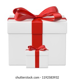 Gift box isolated on white background. 3d illustration