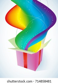Gift box with rainbow