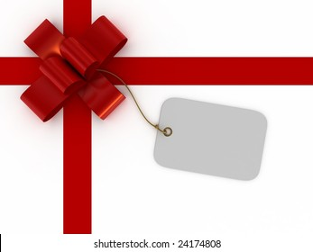 Gift box with a tag