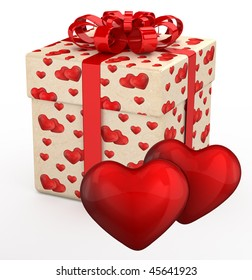 Gift Box Valentines Day Presents Two Stock Illustration 45641920