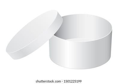 Gift box. White open package. 3d illustration isolated on white background. Raster version