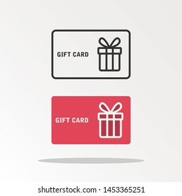 Gift card icon.symbol for website design