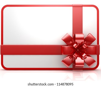Gift Card on white background