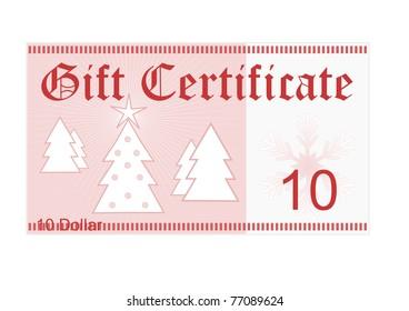 Gift Certificate 25 Dollar Christmas Gift Stock Illustration ...