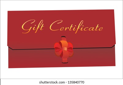 Gift Certificate isolated on white