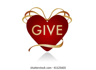 """Gift icon for Christmas or Valentine's Day. Could work well as a """"donate"""" button for charities or blood drives as well."""