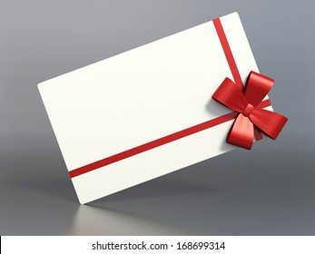 gift package with a red bow