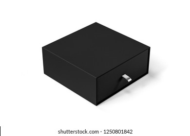 Gift packaging box Mock-up isolated on soft gray background. 3D rendering