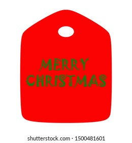 for gift tag print, Merry Christmas Tag