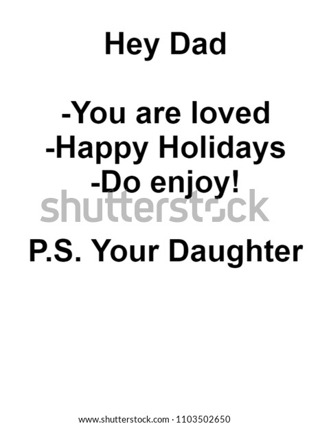 Christmas Gifts For Dad.Gifts Dad Christmas Motivational Quote Him Stock