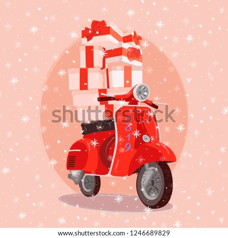 Gifts on motorbike