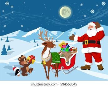 Gifts from Santa Claus- bitmap