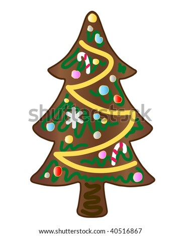 gingerbread christmas tree decorated with sugar