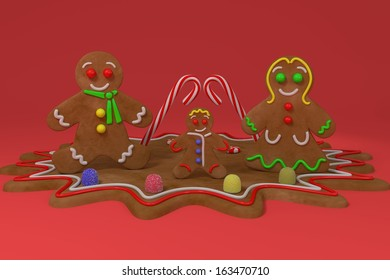 GingerBread Family - Illustration.