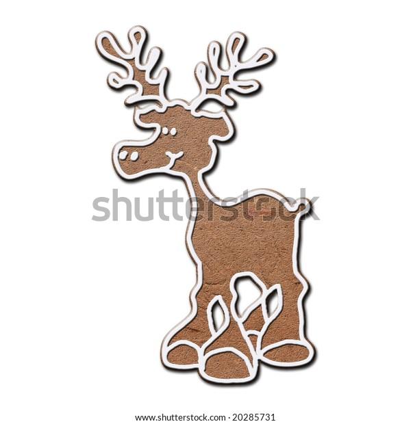 Gingerbread Reindeer Stock Illustration 20285731