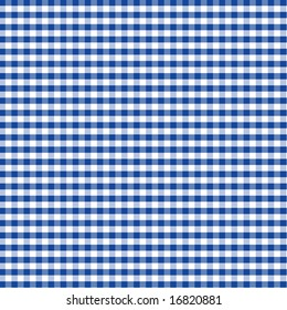 Gingham Check Pattern in blue and white for tablecloths, napkins, curtains, home decorating, arts, crafts, fabrics, scrapbooks, backgrounds.