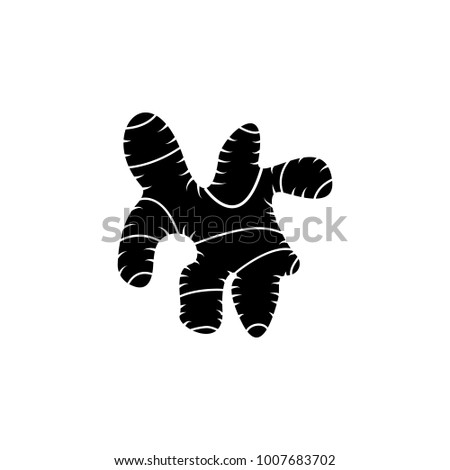 Ginseng Icon Elements Agricultural Root Crops Stock Illustration