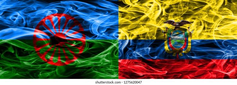 Gipsy, Roman vs Ecuador, Ecuadorian smoke flags placed side by side