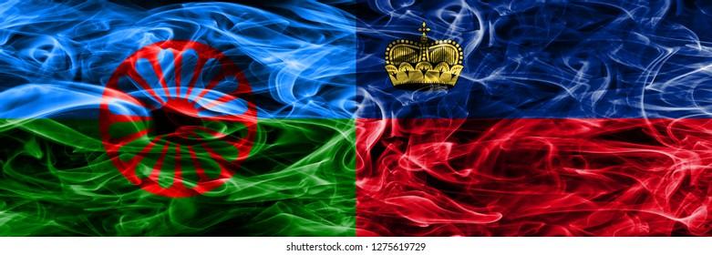 Gipsy, Roman vs Liechtenstein, Liechtensteins smoke flags placed side by side