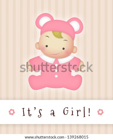 girl announcement sign stock illustration 139268015 shutterstock