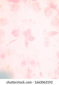 Girl Batik Fabric Template. Tie Dye Pattern. Rose, Ivory Colorful Paint Texture. Rose, Ivory Batik Watercolor Design. Baby Grunge Crumpled Textile Print.