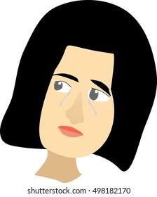Girl Crying Illustration