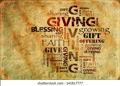 Giving Offering Sharing and Blessing Background