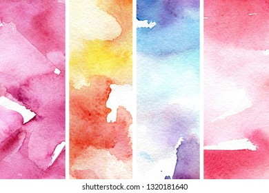 Glam watercolor background in abstract style. Natural beauty. Abstract glamour background. Abstract art pattern. Pink texture set. Watercolor effect. Ink marble texture.