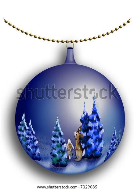 glass ball decoration christmas