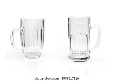 A glass beer mug isolated on a white background - 3d render