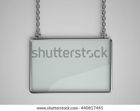 Glass Board Glossy Metal Frame Hanging Stock Illustration 440817445 ...