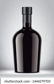 Glass bottle mockup. 3d rendering
