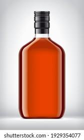 Glass Bottle on background. 3d rendering