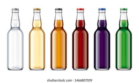 Glass bottles mockup. 3d rendering
