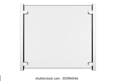 Glass Fence Segment on a white background