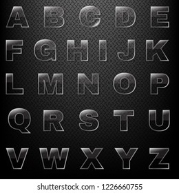 Glass Font And Black Background