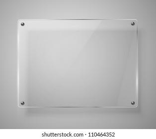 Glass framework. Vector illustration. Jpeg version.