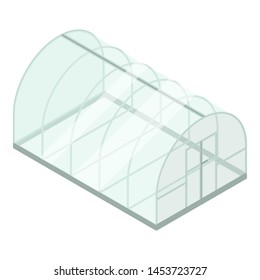 Glass greenhouse icon. Isometric of glass greenhouse icon for web design isolated on white background