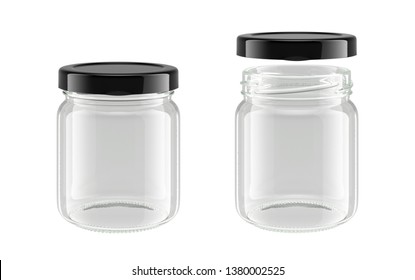 glass jar isolated on white background, 3D rendering