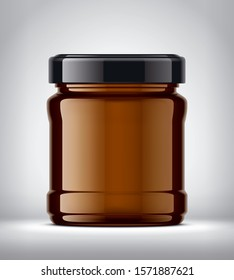Glass Jar Mockup on Background. 3d rendering