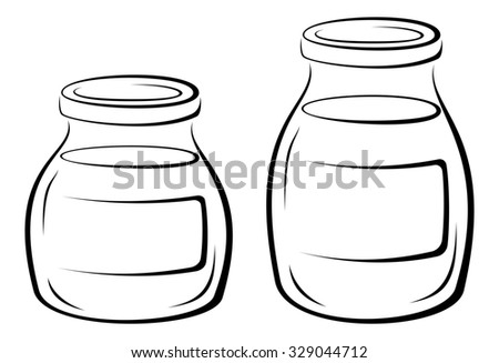 glass jars contents lids blank label stock illustration 329044712