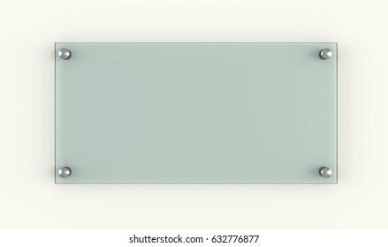 Glass plate. Business design template. 3d rendering